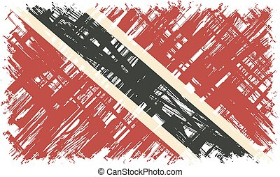Trinidad and Tobago grunge flag. Vector illustration. Grunge...