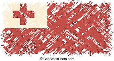 Tonga grunge flag Vector illustration Grunge effect can be...