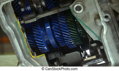 Robotised gearbox inside Spinning gear