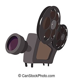 Cinema camera cartoon icon