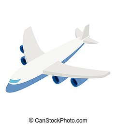 Plane isometric 3d icon isolated on white background