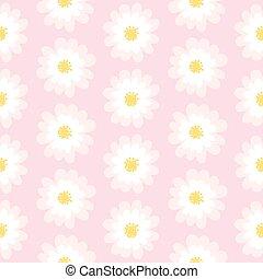 White daisy seamless pattern