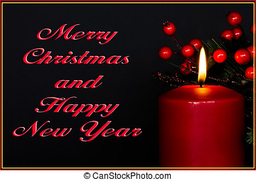 Merry Christmas Greeting Card - Merry Christmas and Happy...