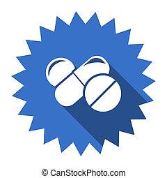 medicine blue flat icon
