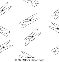 Clothes pin seamless pattern. - Clothes pin seamless pattern...
