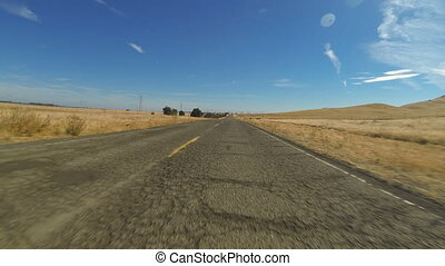 Rural Road Hyperlapse - A hyper-lapse of a vehicle POV as it...