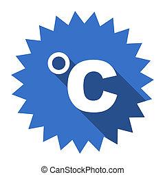 celsius blue flat icon