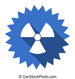 radiation blue flat icon