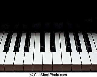 Piano, storslagen, musik, tangentbord