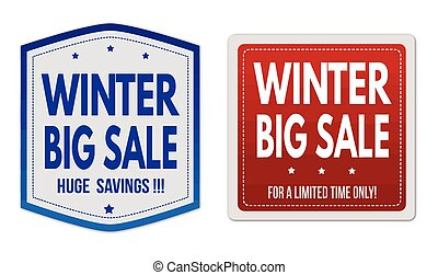 Winter big sale stickers set