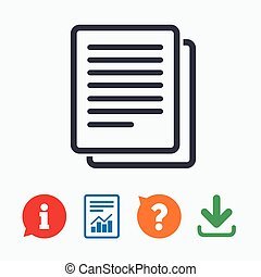 Copy file sign icon Duplicate document symbol Information...
