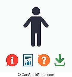 Human male sign icon. Person symbol.