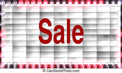 sale marquee - Stock CGI 1080i Video Footage of sale marquee
