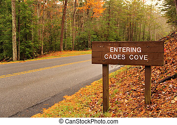 Cades Cove Entrance - Entrance to Cades Cove in Great Smokey...
