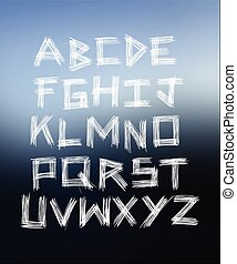 Scratched glass Hand written font - Scratched glass Hand...