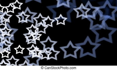 Blue and White Stars Background with Alpha
