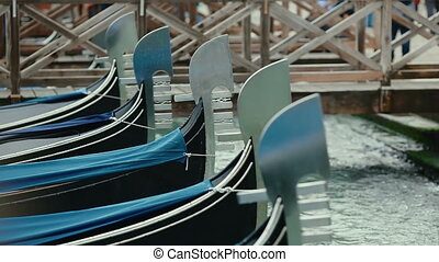 Scenery with Gondolas in Venice, Italy - Scenery with...