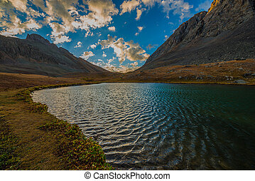 Clear Lake near Silverton San Juan Mountains - Sunrise at...