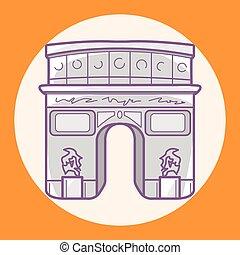 - Triumphal arch theme elements vector,eps