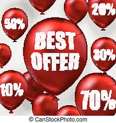Best offer balloons - Illustration of Best offer balloons