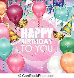 Colorful balloons happy birthday