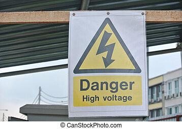 高, 危險, 電壓, 簽署