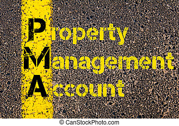 Accounting Business Acronym PMA Property Management Account...
