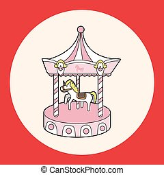 merry-go-round theme elements