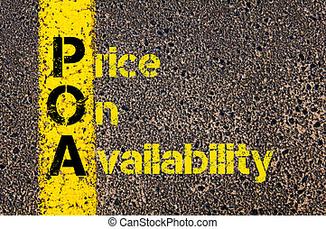 Accounting Business Acronym POA Price On Availability -...