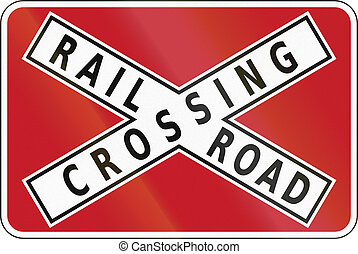 Road sign in the Philippines - Railroad Crossbuck.