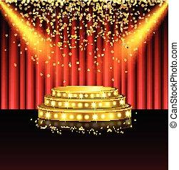 Spotlight of shining on stage - Illustration of Spotlight of...