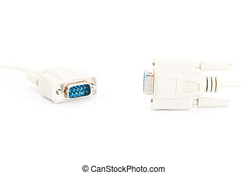 VGA input cable connector on white background - VGA input...