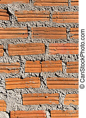 Background of brick wall texture on constuction site