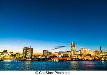 Yokohama skyline at Japan