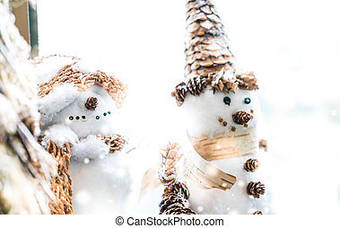 Snow man christmas decoration
