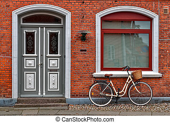 Bicycle in front of Red House