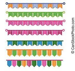Ribbon colorful vector