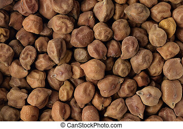 Brown Chickpeas - High resolution close up of brown...