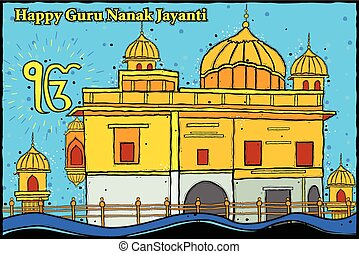 Happy Guru Nanak Jayanti background - easy to edit vector...