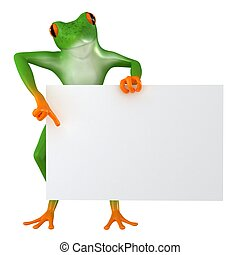 Tropical business frog - The frog shows the template for the...