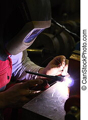 Welding in protective atmosphere of gases, TIG - Tungsten...