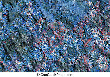 Grungy rusty metal background with peeling paint - Grungy...