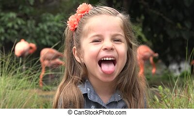 Female Toddler Acting Silly