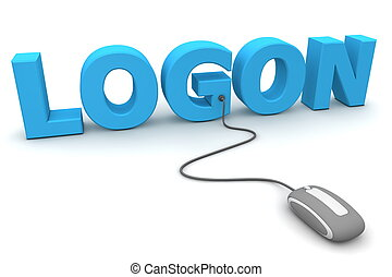 Browse and Logon - Grey Mouse - modern grey computer mouse...