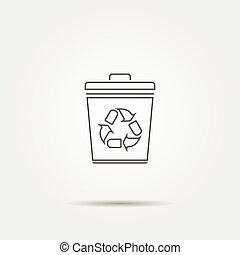 Trash can icon - Vector trash can icon