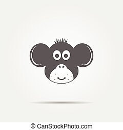 Monkey grey icon