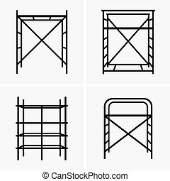 Scaffoldings - Set of four scaffolding
