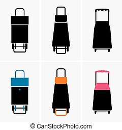 Shopping trolley bags - Set of six shopping trolley bags