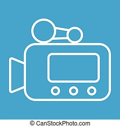 Video camera thin line icon for web and mobile devices