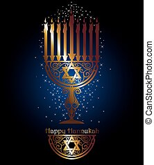 Happy Hanukkah - Illustration of Hannukah